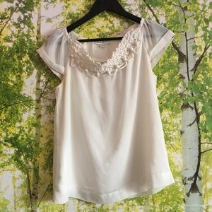 Ivory romantic blouse